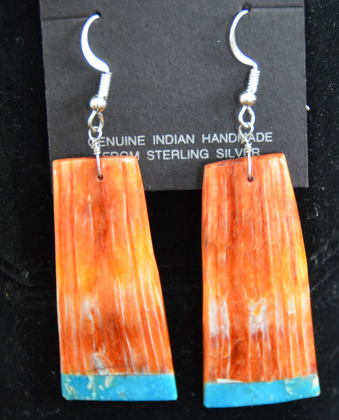 Native American Jewelry : Navajo : Earrings : Louise Pete : NAJ-39E