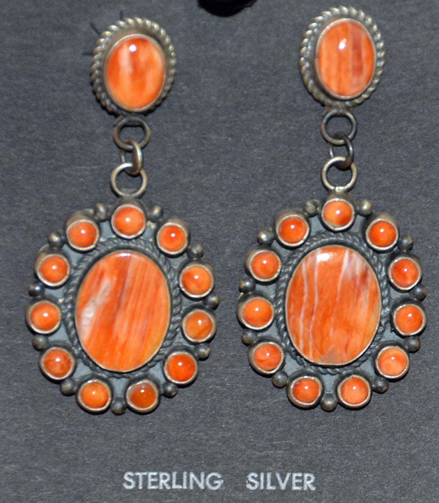 Native American Jewelry : Navajo : Earrings : Dean Brown : NAJ-40E - Getzwiller's Nizhoni Ranch Gallery