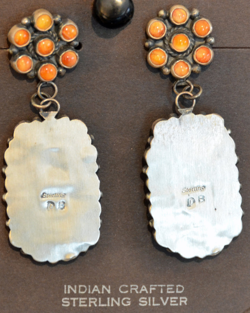 Native American Jewelry : Navajo : Earrings : Dean Brown : NAJ-41E - Getzwiller's Nizhoni Ranch Gallery