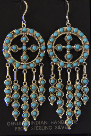Native American Jewelry : Earrings : Wayne Johnson : NAJ-50E - Getzwiller's Nizhoni Ranch Gallery