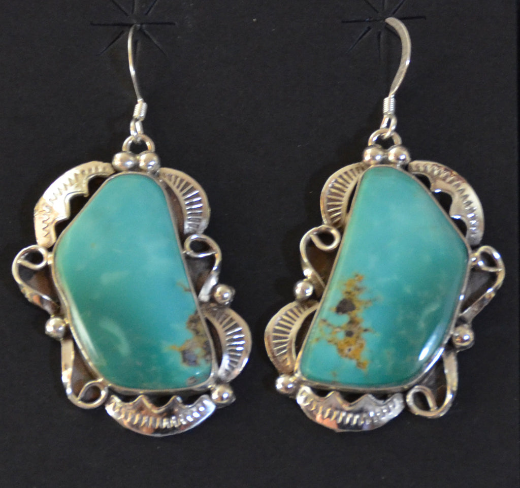 Native American Jewelry : Navajo : Earrings : Lionel Calladitto : NAJ-47E - Getzwiller's Nizhoni Ranch Gallery