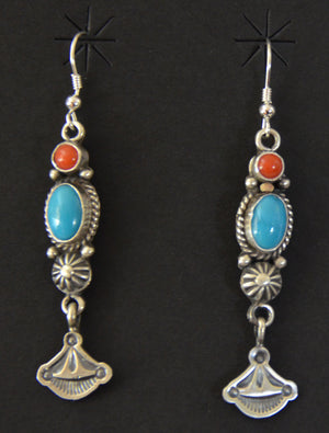 Native American Jewelry : Navajo : Earrings : Michael Calladitto : NAJ-48E - Getzwiller's Nizhoni Ranch Gallery