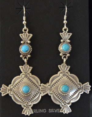 Native American Jewelry : Navajo : Earrings : Michael Calladitto : NAJ-49E - Getzwiller's Nizhoni Ranch Gallery