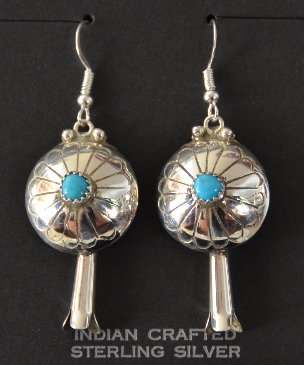SOLD Native American Jewelry : Navajo : Juan Begay : Earrings :  NAJ-56E - Getzwiller's Nizhoni Ranch Gallery