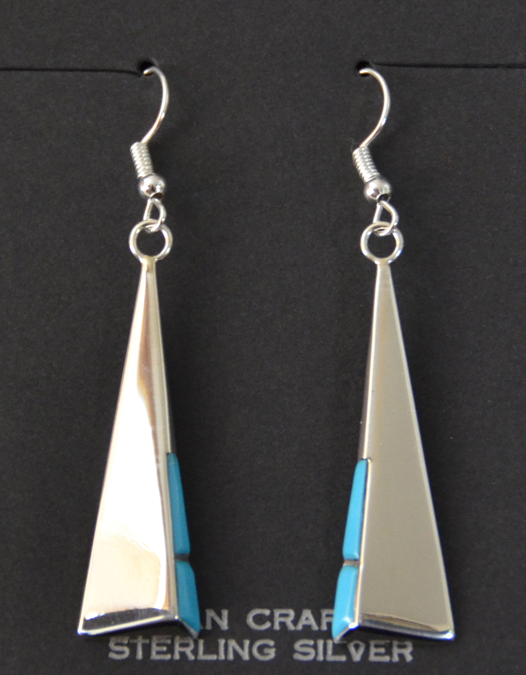 Native American Jewelry : Navajo : Leonard Jim : Earrings :  NAJ-55E - Getzwiller's Nizhoni Ranch Gallery