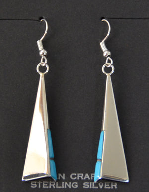 SOLD Native American Jewelry : Navajo : Leonard Jim : Earrings :  NAJ-55E - Getzwiller's Nizhoni Ranch Gallery