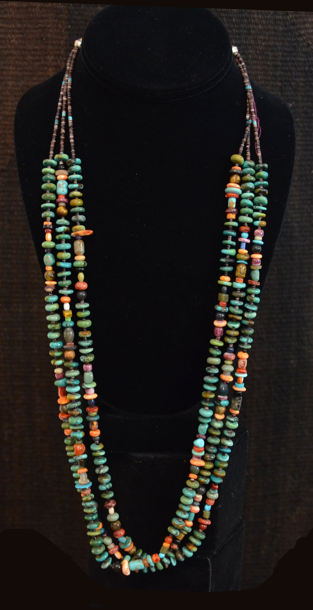 Native American Jewelry : Multi : Stone : Heishi Shell Necklace : NAJ-N27 - Getzwiller's Nizhoni Ranch Gallery