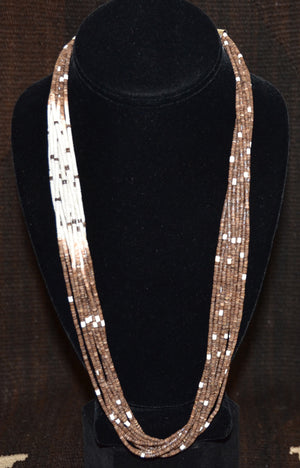 Native American Jewelry : Heishi Shell Necklace : NAJ-N24 - Getzwiller's Nizhoni Ranch Gallery