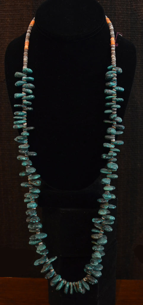 Native American Jewelry : Turquoise : Heishi Shell Necklace : NAJ-N25 - Getzwiller's Nizhoni Ranch Gallery