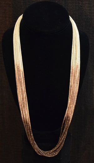 Native American Jewelry : Heishi Shell Necklace : NAJ-N28 - Getzwiller's Nizhoni Ranch Gallery