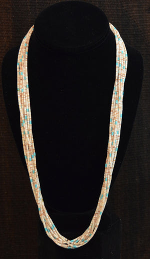 Native American Jewelry : Heishi Shell Necklace : NAJ-N29 - Getzwiller's Nizhoni Ranch Gallery
