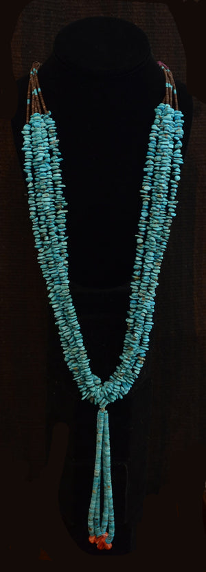 Native American Jewelry : Navajo:  Traditional Turquoise Navajo Necklace : NAJ-N6 - Getzwiller's Nizhoni Ranch Gallery