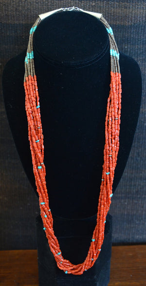 Native American Jewelry : Heishi Shell Necklace : NAJ-N35 - Getzwiller's Nizhoni Ranch Gallery