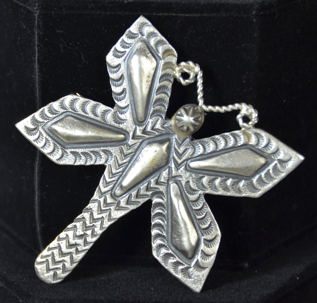 Native American Jewelry : Sterling Silver : Navajo : Myron Etsitty : Dragon Fly Pin : NAJ-34P - Getzwiller's Nizhoni Ranch Gallery
