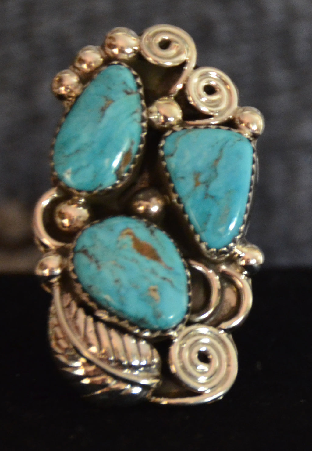 Native American Jewelry : Navajo : Ring : Turquoise : Kenneth Largo : NAJ- 2R - Getzwiller's Nizhoni Ranch Gallery