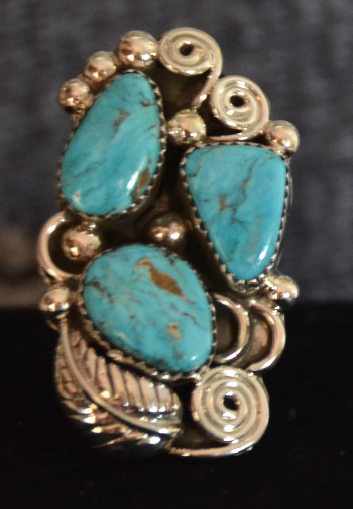 SOLD Native American Jewelry : Navajo : Ring : Turquoise : Kenneth Largo : NAJ- 2R