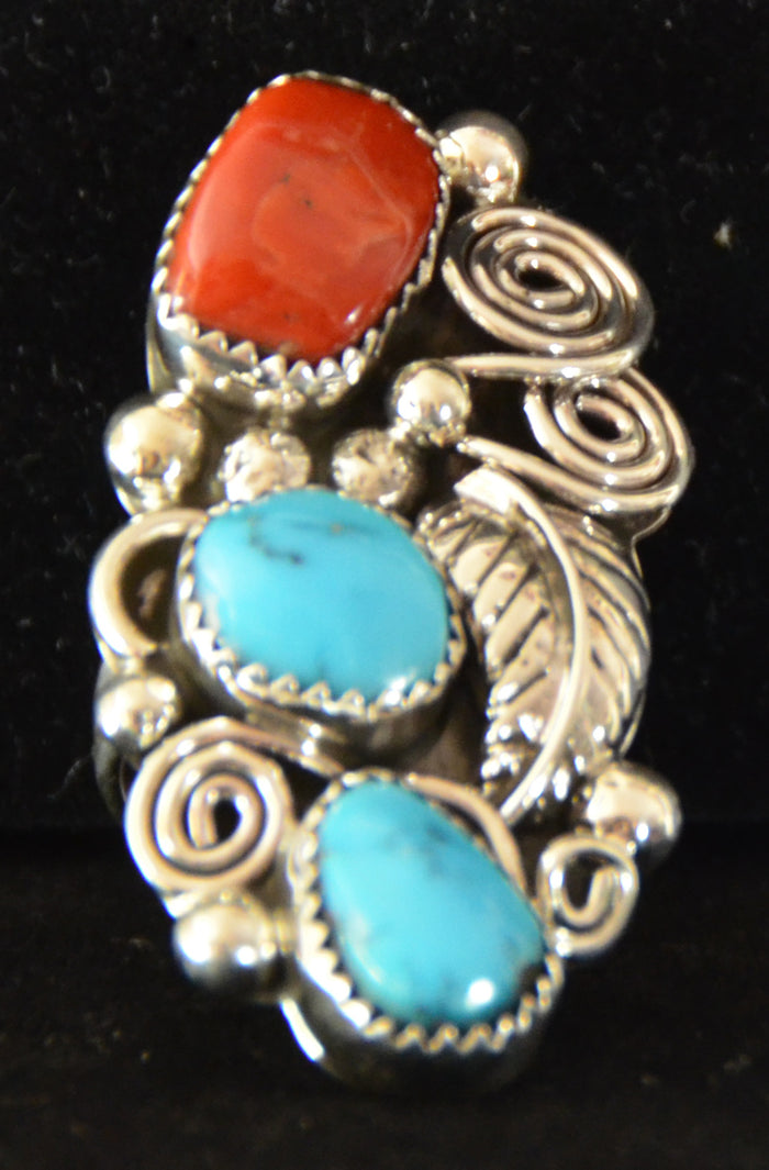 Native American Jewelry : Navajo : Ring : Turquoise : Kenneth Largo : NAJ- 3R