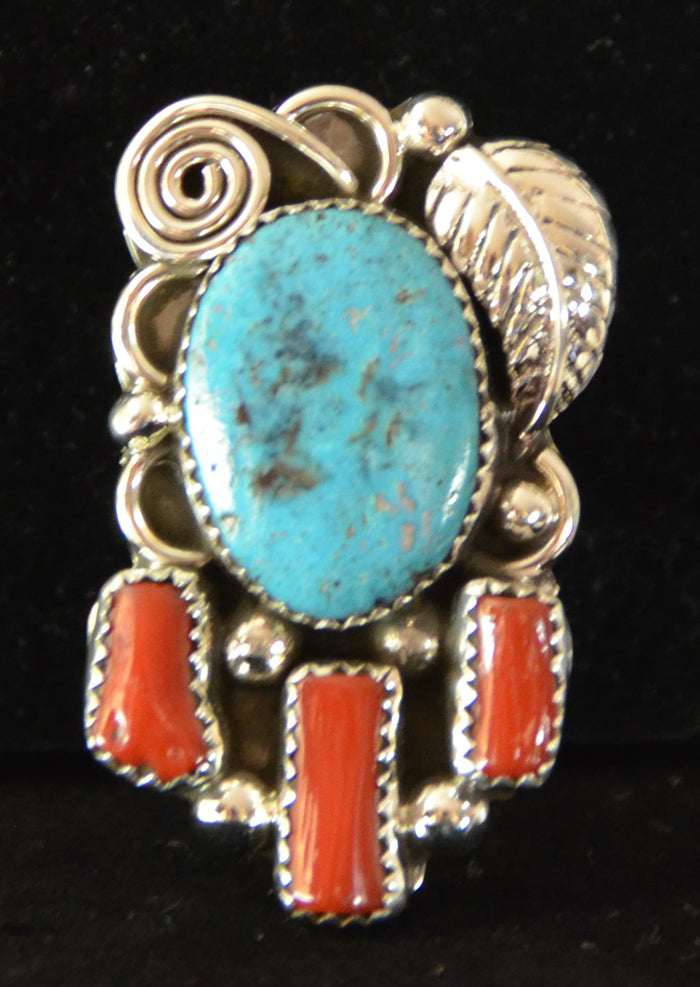 Native American Jewelry : Navajo : Ring : Turquoise : Kenneth Largo : NAJ- 4R