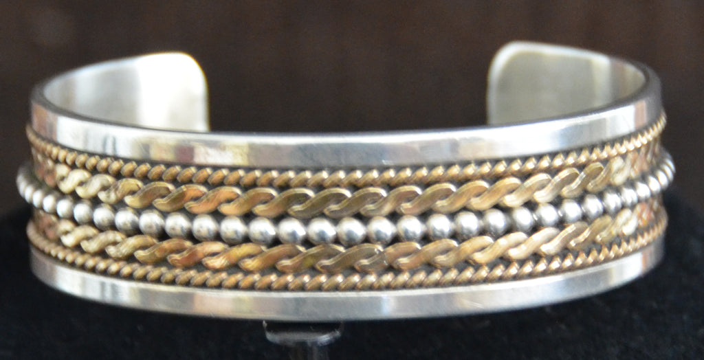 Native American Jewelry : Navajo: Gold and Silver : Ron Yazzie : Bracelet : NAJ-40 - Getzwiller's Nizhoni Ranch Gallery