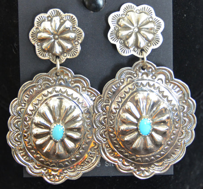 Native American Jewelry : Navajo : Earrings : Antonette Blackgoat : NAJ-37E