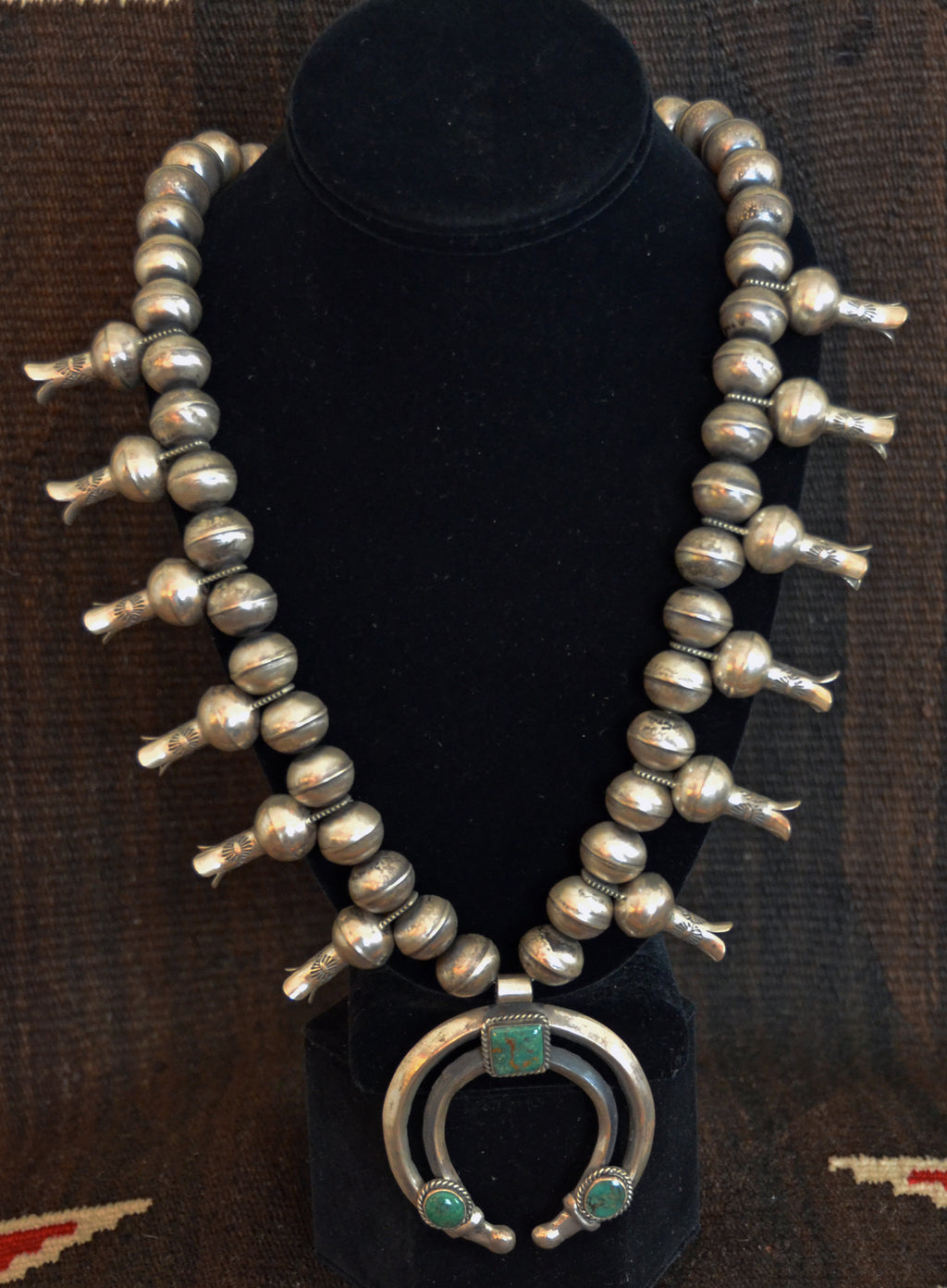 Native American Jewelry : Navajo: Squash Blossom Necklace : Chris Hale : NAJ-N23 - Getzwiller's Nizhoni Ranch Gallery
