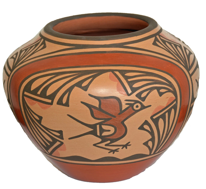Native American Zia Pueblo Pot : medium pot :  Ruby Panana: rp 26