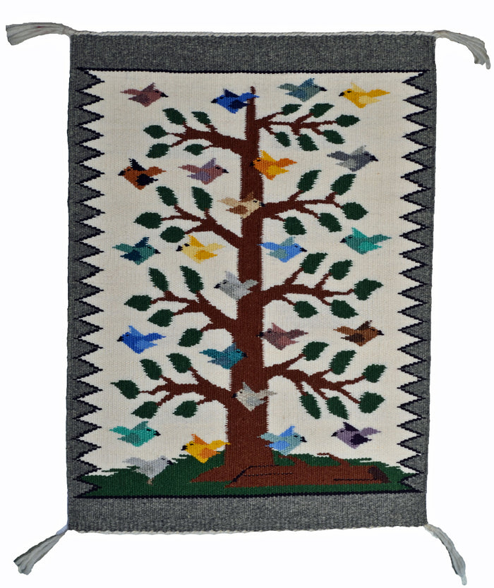 "Tree Of Life Navajo Rug : Lena Begay : 3414 : 21"" x 15"""