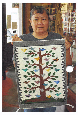 Tree Of Life Navajo Rug : Lena Begay : 3414