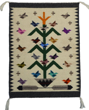 Tree Of Life Navajo Rug : Lena Begay : 3416