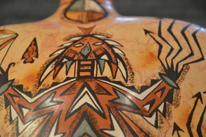 Navajo Pottery : Horned Toad : Lucy Leuppe McKelvey - Getzwiller's Nizhoni Ranch Gallery