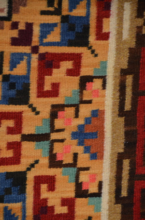 Burntwater Navajo Weaving : Ruby Watchman : Churro 1655