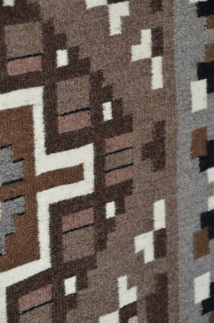 "Two Grey Hills Navajo Rug : Helen Bia : Churro 1599 : 39"" x 60"" - Getzwiller's Nizhoni Ranch Gallery"