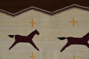 Horse Pictorial Navajo Weaving : GH : Churro 1602 - Getzwiller's Nizhoni Ranch Gallery