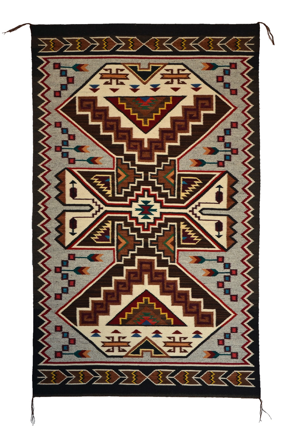 SOLD : Crystal Navajo Rug: Cara Yazzie (Gorman) : Churro 1648