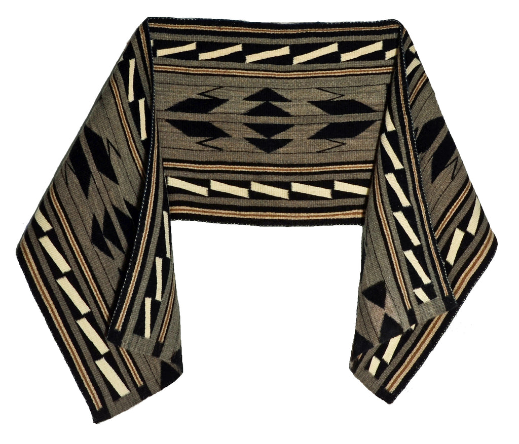"Navajo Shawl : Julia Upshaw : Churro 1651 : 16"" x 69"""