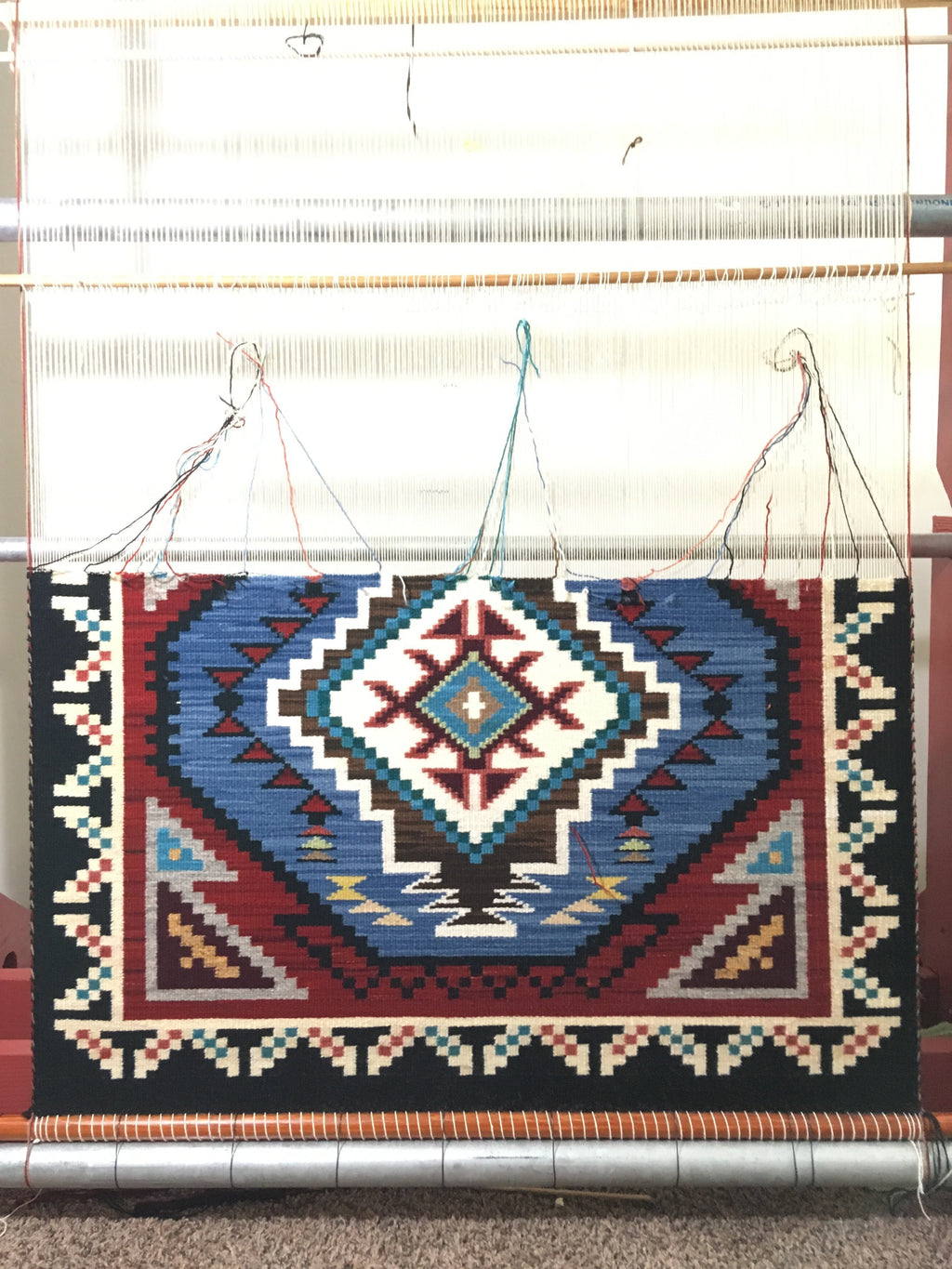 Native American Rug : Frances Begay : Looming Attractions - Getzwiller's Nizhoni Ranch Gallery
