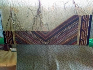 Teec Nos Pos : Navajo Rug on the Loom : Cecelia Nez : Looming Attractions