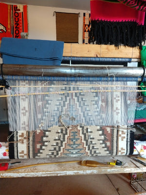 Two Grey Hills Navajo Rug : Irene Bia : looming attraction
