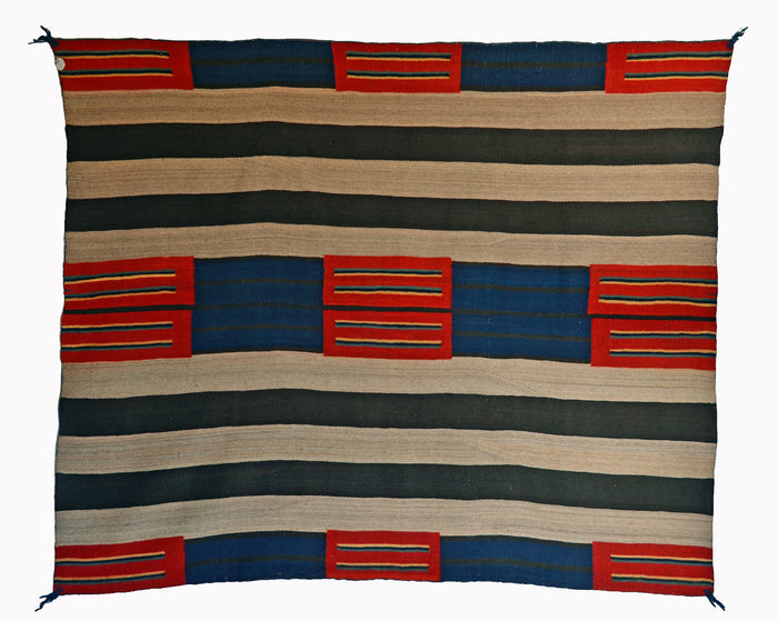 "SOLD 2nd Phase Womans Chief Blanket Navajo Weaving : Historic : PC 283 : 56"" x 67"""