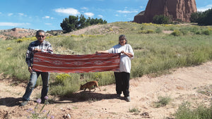 HOLD Navajo Womans Shawl : Lucie Marianito : Churro 1609 - Getzwiller's Nizhoni Ranch Gallery