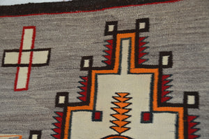 Double Saddle Blanket : Historic Navajo Weaving : PC 190 : 33″ x 52″ - Getzwiller's Nizhoni Ranch Gallery