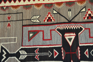 "Teec Nos Pos Antique Navajo Rug :  PC 164  : 43"" x 82"""