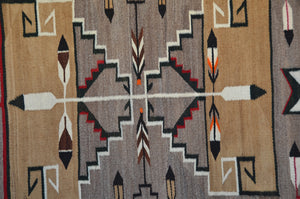 "Teec Nos Pos Antique Navajo Rug :  PC 165  : 45"" x 94"""