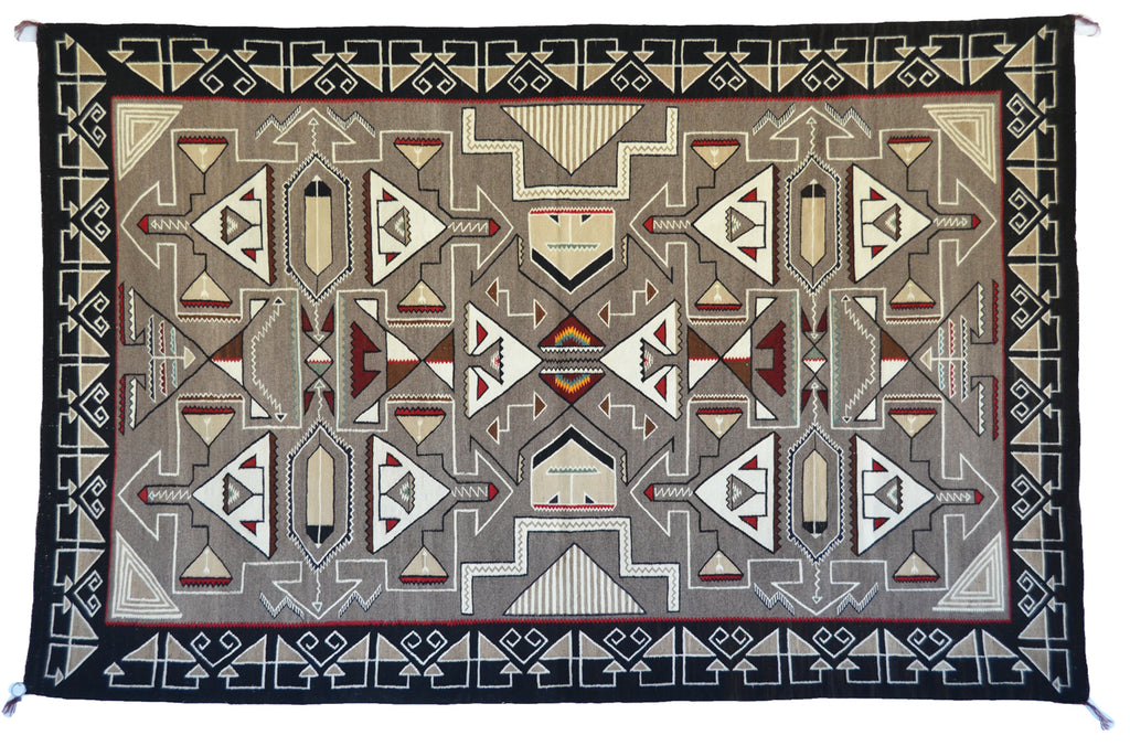 "Teec Nos Pos Antique Navajo Rug :  PC 167  : 60"" x 92"""