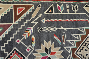 "Teec Nos Pos Antique Navajo Rug :  PC 168  : 53"" x 93"""