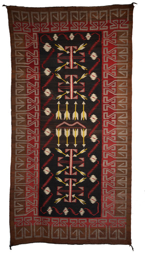 "Teec Nos Pos Antique Navajo Rug :  PC 169  : 34"" x 66"""