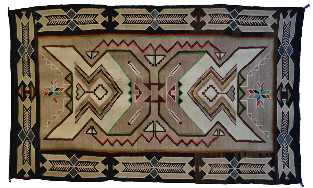 "Teec Nos Pos Antique Navajo Rug :  PC 170  : 41"" x 67"""