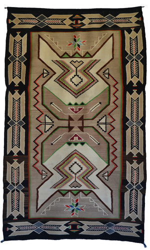 "Teec Nos Pos Antique Navajo Rug :  PC 170  : 44"" x 72"""