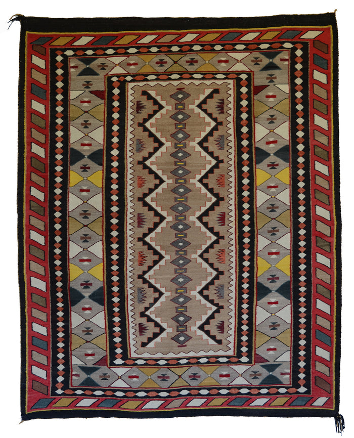 "Teec Nos Pos Antique Navajo Rug :  PC 173  : 53"" x 67"""