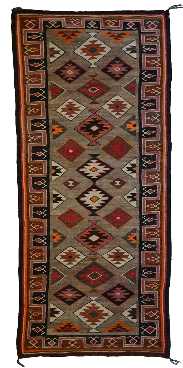"Teec Nos Pos Antique Navajo Rug :  PC 174  : 42"" x 94"""